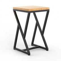 стул из металла и дерева